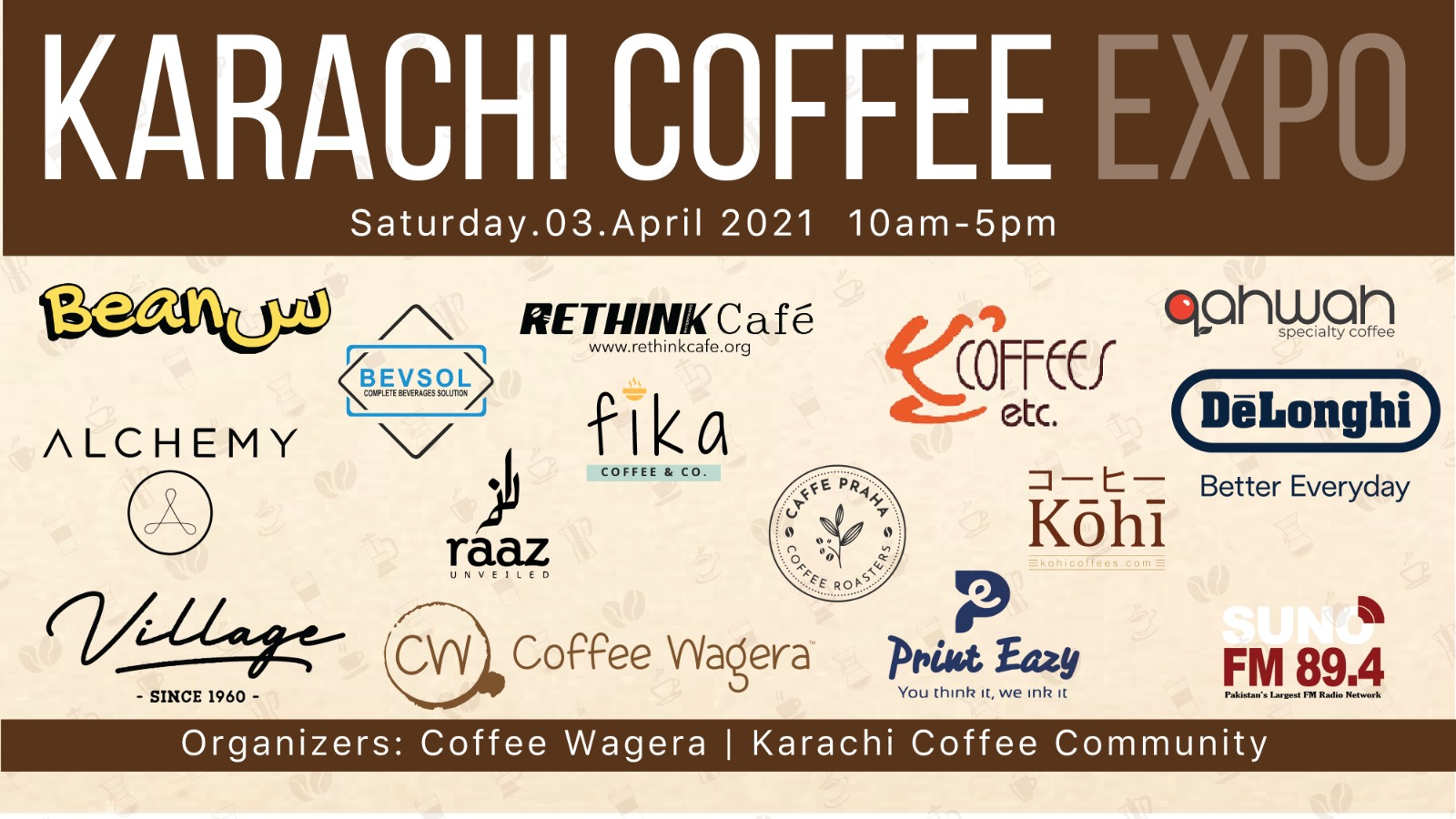 Pakistan's First Coffee Expo by Coffee Wagera will happen on 3rd April 2021!